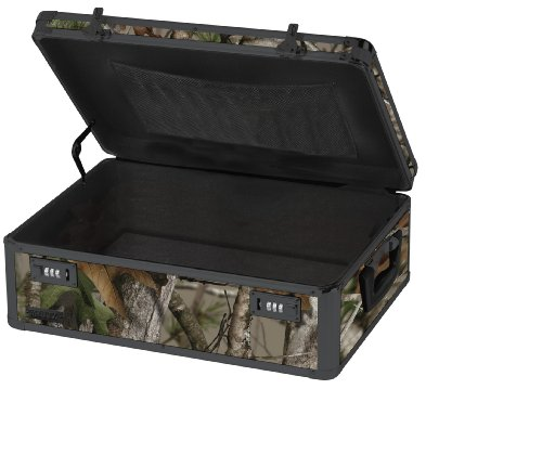 Vaultz Locking Storage Chest, 6.5 x 19 x 13.5 Inches, Next Camo Green (VZ00457)