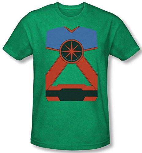 Martian Manhunter Costume Heather T-Shirt (Martian Manhunter Costume)