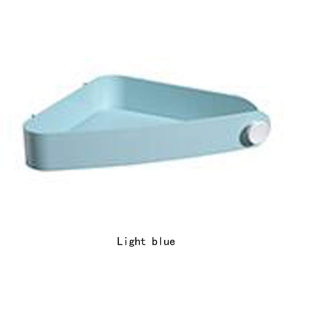 JSHFD Bathroom Shelf, Bathroom Wall Hanging Punch-Free Bathroom Storage Rack, Suction Wall Toilet Tripod (Color : Light Blue, Size : 30234.8CM)