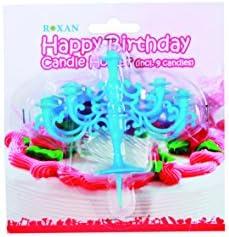 Soporte para velas de cumpleaños (incl. 9 velas) para tartas ...