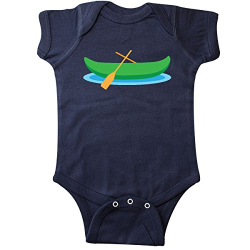 Blue Canoe Onesie - inktastic Canoe Boat (Green) Infant Creeper 24 Months Navy Blue