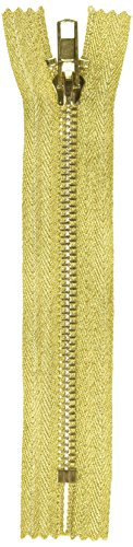 Products From Abroad Zipper Metallic 15cm Gold