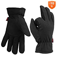 Cold Winter Thermal Gloves For Men Women Deerskin Leather & Polar Fleece -10?