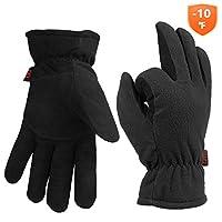 Cold Winter Thermal Gloves For Men Women Deerskin Leather & Polar Fleece -10?