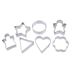 Chinatera 7pcs Differ Geometric Figure Cake Biscuit Pastry Cookies Cutter Mold Mould