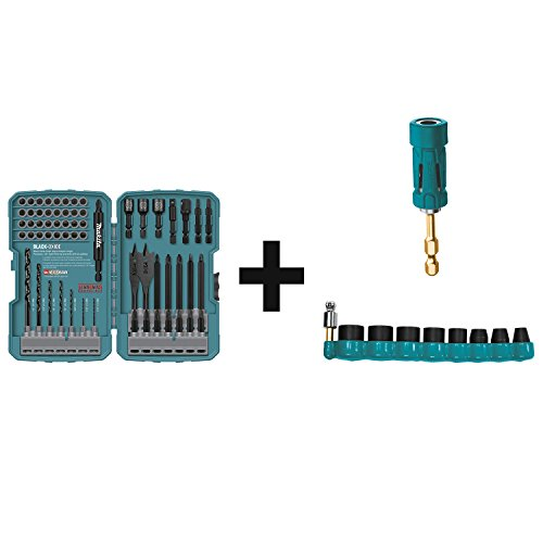Makita T-01725 Contractor Grade Bit Set, 70-Pc. with B-34833 Impact GOLD 9 Pc. 3/8