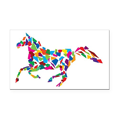 CafePress - Galloping Horse Rectangle Car Magnet - Rectangle Car Magnet, Magnetic Bumper (Horse Rectangle Magnet)
