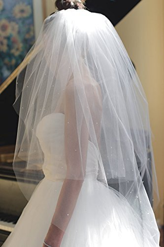 Beaded Wedding Veil Two Tier Veil by Art Veil Atelier