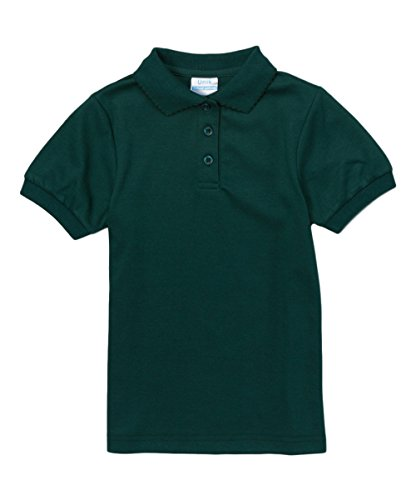 Girl's Uniform Polo Shirt Short Sleeve, Hunter Green Size 6