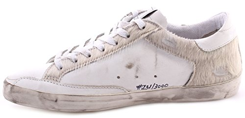 Zapatos Hombres Sneakers GOLDEN GOOSE Superstar Uma Limited Edition White Italy
