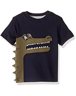 Baby Toddler Boys' Navy Aligator Tee