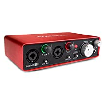 Focusrite Scarlett-2i2 Gen2 USB Audio Interface with Pro Tools First