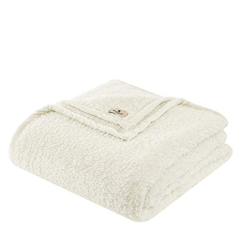 (Woolrich Burlington Luxury Berber Blanket Ivory 6690 Twin Size  Premium Soft Cozy Soft Berber For Bed, Coach or Sofa)