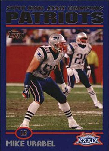 2005 Topps Patriots Super Bowl XXXIX Champions #12 Mike Vrabel Patriots NFL Football Card NM-MT