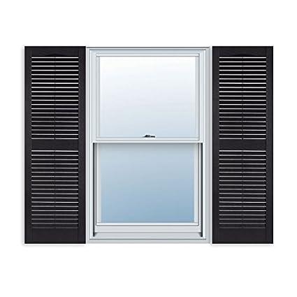 Amazon.com: 15 Inch x 59 Inch Standard Louver Exterior Vinyl Window ...