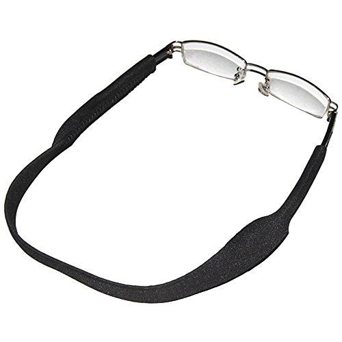 TRIXES Cordon sport noir pour lunettes et lunettes de soleil, attache en néoprène extensible