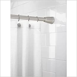 Better Homes And Gardens Tapered Ez Up Shower Curtain Rod Brushed