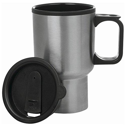 Maxam Stainless Steel Travel Mug, 14-Ounce 14 oz, Red