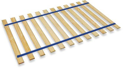 Full Size Custom Bed Slats With Blue Strapping Material - Help Support Your Box Spring and Mattress