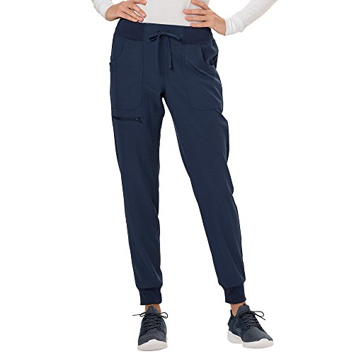 HeartSoul Break On Through HS030 The Jogger Low Rise Tapered Leg Pant (Navy, Large ()