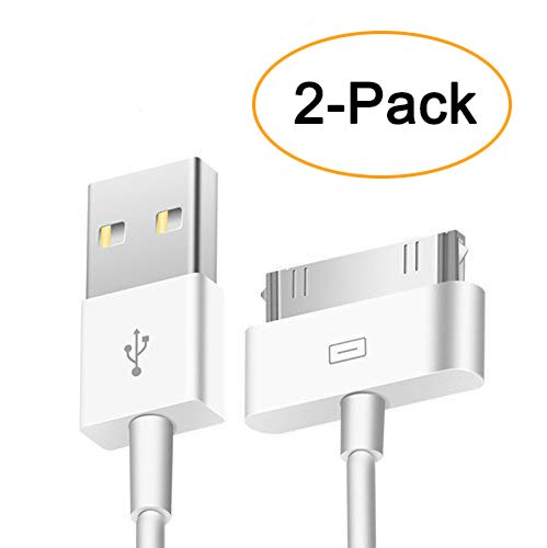 Trenro 2pcs 30 Pin USB Sync Charging Cable Cord Replacement for Old Apple iPhone 4/4S 3G/3GS, iPad 1/2/3,iPod Nano/iPod Touch (Iphone 4s Cable Usb)