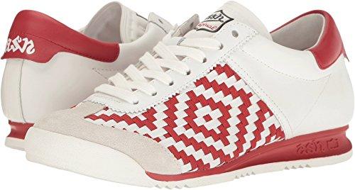 Ash Leather Bed - Ash Women's Scorpio Fashion Sneaker, Red, 37 EU/7 M US