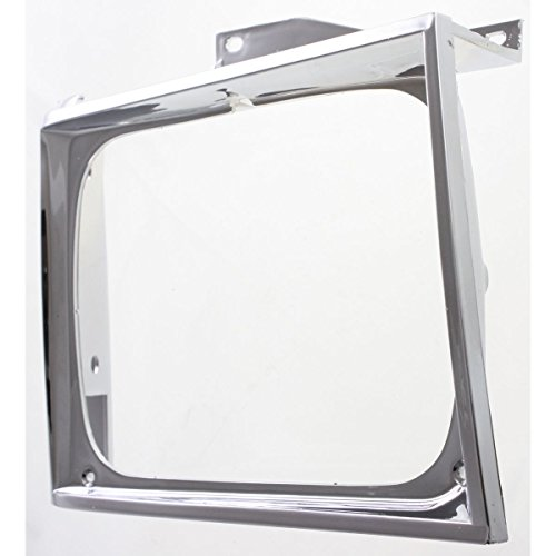 Pickup Headlight Bezel Chrome Trim (Diften 630-A0224-X01 - Chevy S10 GMC S-15 Truck Chrome Headlight Bezel Trim Passenger Side Right RH)