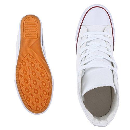 VITA Weiss Weiss Damen Wedges Sneaker mit SCARPE Keilabsatz Basic v7dqOvwR