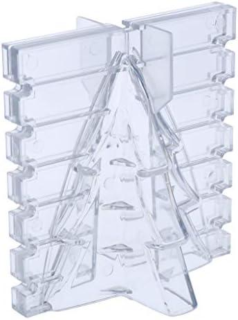 dailymall キャンドル作りモデルキャンドル金型石鹸金型、クリスマスパインツリー型、エポキシ樹脂用プラスチック金型、ポリマ