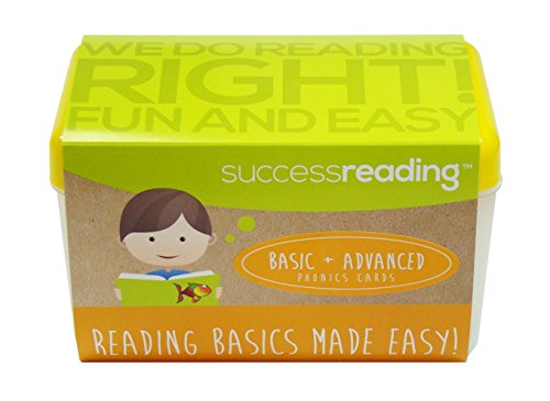 Success Readings Basic and Advanced Phonics Cards, for Parents and Teachers to Help Children Learn to Read From PreK, Kindergarten, First Grade, Second Grade and Older.