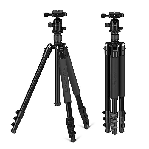 Tairoad 62.5 inch Ball Head Tripod Aluminium Alloy Lightweight Travel Tripod with Padded Carry Bag