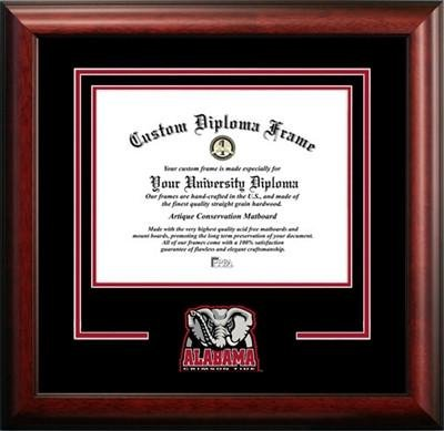 University of Alabama Mascot Diploma Frame