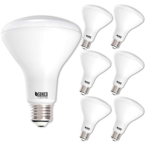 Sunco Lighting 6 Pack BR30 LED Bulb 11W=65W, 2700K Soft White, 850 LM, E26 Base, Dimmable, Indoor Flood Light for Cans - UL & Energy - Floodlight White Reflector Indoor Soft