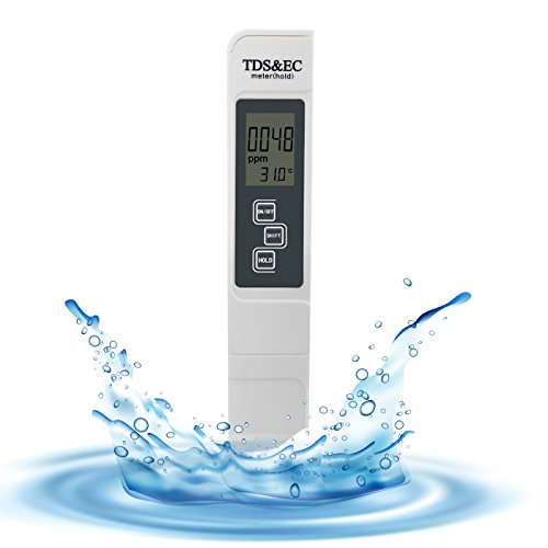 VOWTIME Water Quality Test Meter Professional TDS Ec Temperature Testing Meter Digital Reading for Drinking Water Aquarium Swimming Pool Wastewater Treatment Planting Laboratory Battery Included