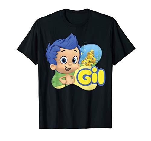 Bubble Guppies Gil Smiling Portrait Logo T-Shirt]()