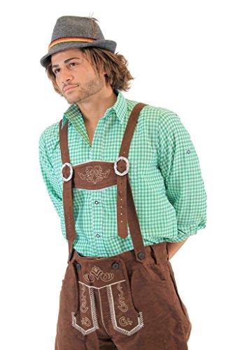Oktoberfest German Bavarian Lederhosen Costume Pants (34) by Costume Agent (Image #1)