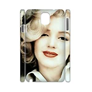 3D Marilyn Monroe Classic Beautiful Sexy Women Samsung Galaxy Note 3 Case Unique For Guys, Case For Samsung Galaxy Note 3 Boys [White]