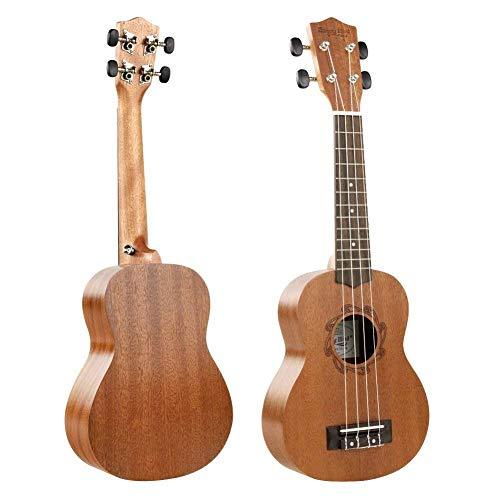 Soprano Ukulele Mahogany 21 inch Hawaiian Ukelele 4-String Starter for Soprano Ukulele Beginner With Gig Bag