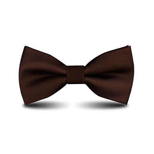 - Men's Bow Ties Classic Pre-tied Adjustable for Boy in Gift Box Ties,by Anrinwei (Dark Brown)