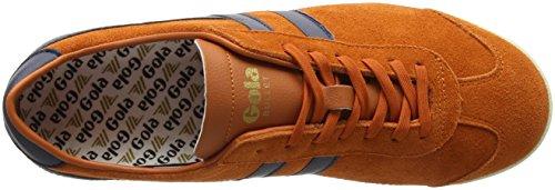 Gola Mænds Kugle Ruskind Mode Sneaker Humørsyg Orange / Flåde nPR9a