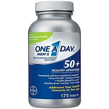 One A Day Men s 50+ Healthy Advantage Multivitamin 7fecd00866b4