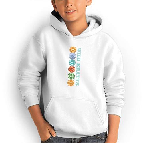 (Don Washington Wild Kratts-Creature Power Teen Hoodies Fashion Sweatshirts Pullover White)