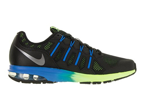 Nike hombre Air Max Dynasty Prem Running Shoe Black/Metallic Cool Gray/Electric Green/Photo Blue