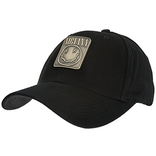 Nirvana - Metal Badge Fitted Baseball Cap