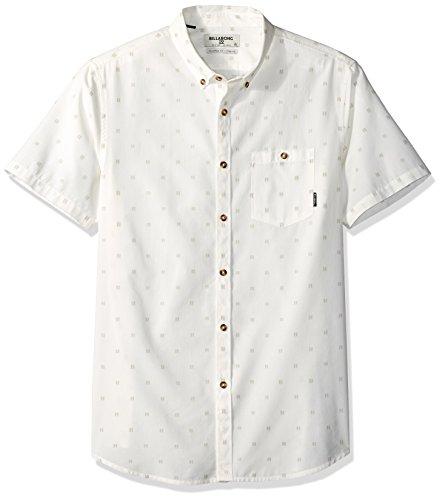 Billabong Men's All Day Jacquard Short Sleeve Shirt Rock Medium