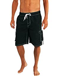 b27323d41c Mens Big Extended Size Swim Trunks - Mens Plus King Size Swimsuit Thru 5X