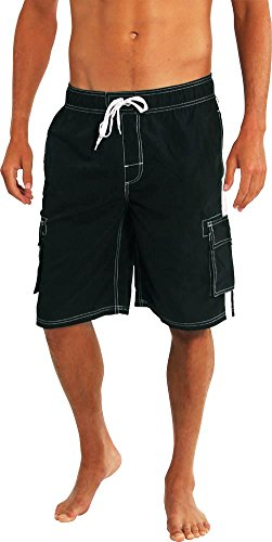 Big Suits (Norty Swim - Big Mens Swim Suit, Black 39962-XXX-Large)