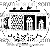 MESSY MANSION MM01 Nail Art Stamping Plate - Christmas theme