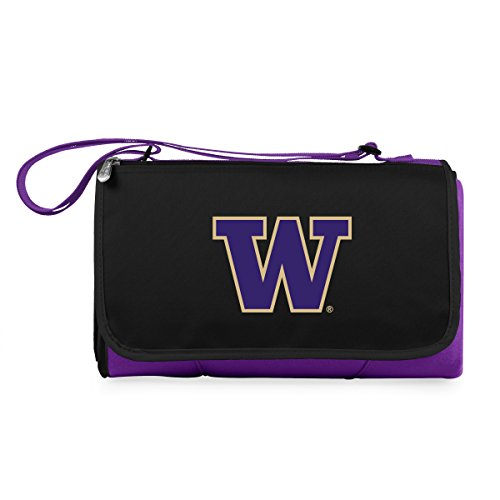NCAA Washington Huskies Outdoor Picnic Blanket Tote, (Washington Huskies Fleece Throw)