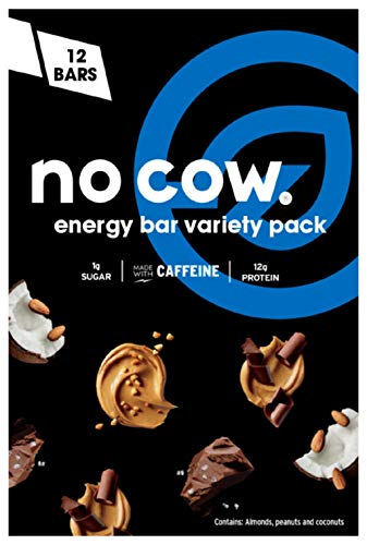 No Cow Energy Bar Variety Pack, 12 Count